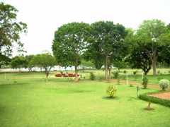 Halebid temple garden
