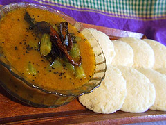 South Indian Sambhar and Idlis