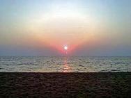 sunset in beach