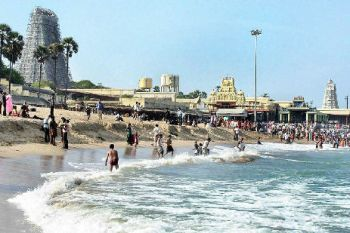 Tiruchendur temple beach